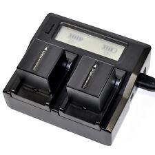 Quick  LCD Charger +2x Battery for Panasonic CGA-DU21 NV-GS400 NV-GS VDR series