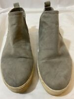 DV Dolce Vita Suede Leather Ankle Booties Boots Gray Taupe Womens Size 7