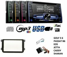 JVC kw-r520 autoradio 2din CD mp3 aux usb pour vw golf v vi passat touran CC