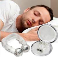 2pcs Anti Snore Nose Clip Micro Sleep Apnea Device Stop Snoring Magnets Silicone