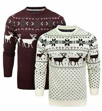 Boys Christmas Jumper Knitted Ecru Xmas Children Age 7 8 9 10 11 12 13 14 Years