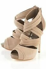 Leather Party Open Toe Solid Shoes for Women