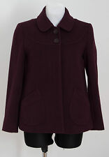 WOMENS PAUL COSTELLOE DRESSAGE SHORT COAT JACKET WOOL BLEND PURPLE SIZE UK 10