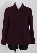 WOMENS PAUL COSTELLOE DRESSAGE SHORT COAT JACKET WOOL BLEND PURPLE SIZE UK 10