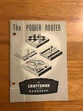 Original CRAFTSMAN 1963 HANDBOOK INSTRUCTIONS POWER ROUTER