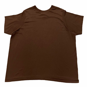Size XL - 90s Military Surplus BDU Essential Brown Tee Shirt Made in USA VTG