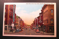 Vtg. Postcard MOUNT VERNON, OH South Main Steet from Public Square