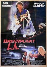 LETHAL WEAPON 2 - BRENNPUNKT L.A.  original Kino Plakat Din A0
