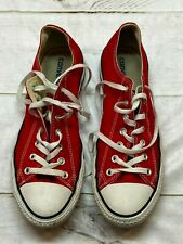 Converse Mens Chuck Taylor All Stars Sneakers Canvas Red Size 12