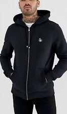 Penguin Original True Black Icon Logo Full Zip Hoodie Uk Medium #Box 43