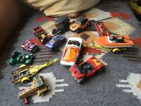 13 VINTAGE LESNEY DIECAST VEHICLES ALL ARE WELL PLAYED WITH. DATE FROM THE 1970'