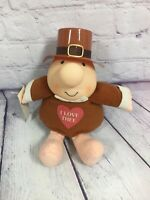 "Vintage 1991 Stuffed Ziggy Pilgrim - Thanksgiving I Love Thee - 7.5"" Long"