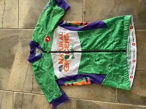 Castelli Aero 5.1 W Jersey Green Cycling Full Zipper Pockets Wahoo Zwift Rudy