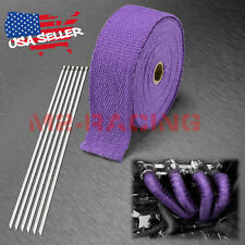 "Purple Exhaust Pipe Insulation Thermal Heat Wrap 2"" x 50' Motorcycle Header"