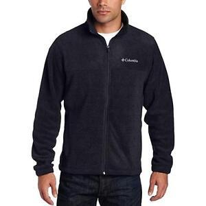 New $65 Columbia mens Granite Mountain full zip fleece jacket Big & Tall Black