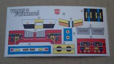 A Transformers premium quality replacement sticker/decal sheet for G1 Inferno