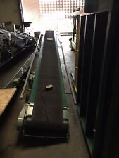 Rapistan 25' Powered Belt Conveyor With Forward/Reverse Good Shape Used TL 3