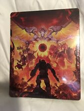 New/Sealed - DOOM Eternal Scanavo SteelBook Case - Xbox One PS4 *NO GAME*