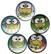 Keroppi Set of 5 Pins-Buttons-Badges-Pinbacks *cute* hello kitty frog kawaii