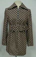 Topshop women's corduroy printed belted spring trench US 4 NWT MSRP $150 flawed