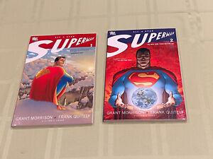 ALL-STAR SUPERMAN Vol 1 & 2 TPB's (2007 DC) Grant Morrison & Frank Quitely NM!