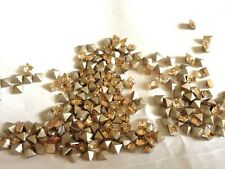 130 Swarovski 4428 3mm Xilion Golden Shadow Square Shaped Rhinestones Foiled