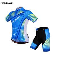 Mens Pro Cycling Sets Bike Riding Jersey Padded Shorts Kit Short Sleeve Shirts