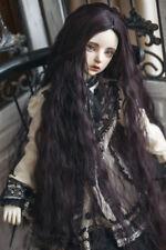 22-24 BJD wigs long curly hair dark purple for BJD SD doll wigs doll accessories