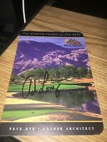 Andrew Long  Winner  Signed PGA West Scorecard COA