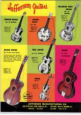 1967 PAPER AD 2 Sided Jefferson Toy Guitar Hawaiian Holiday Cowboy Banjo Spanish