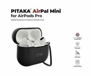 Pitaka AirPal Mini for Apple Airpods Pro Hard Case Carbon Carabiner Aramid Fiber