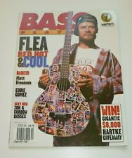 BASS PLAYER VINTAGE US MUSIC MAGAZINE - FEB 1996 - RED HOT CHILI PEPPERS FLEA