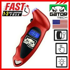 Digital Tire Air Pressure Gauge Meter Tester Car Truck Lcd Display 150 Psi Red