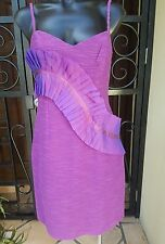 NWT Seduce Purple Nubble Fabric With Feature Trim  Dress , Size 10 RRP $180