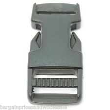 2pcs Black Quick Release Side Slide Buckle Bag Strap Webbing Plastic 20mm