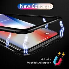 Adsorción magnética 360 ° vidrio templado de metal caso cubierta para iPhone 11 Pro Xr 8