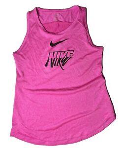 Nike Dri-fit Sleeveless Athletic Tank Top Size Medium Pink Women's