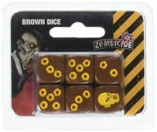 Brown Dice - Zombicide Accessories 6 D6 Dice Set CoolMiniOrNot