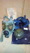 vintage Romanian M-74 gas mask, RARE blue militia para NOS