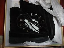 NWT MK Michael Kors June Lace Up Boots Black Suede Size 9M With Box