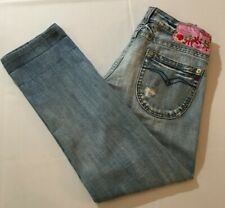 Replay Jeans Light Wash Destroyed Low Rise Straight Women's Size 30 X 30