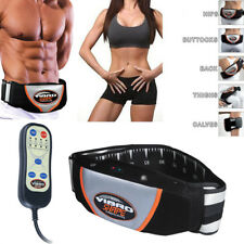 Electric Tonning Belt PU Leather Tone Front Muscle Abdominal Stomach Toner UK