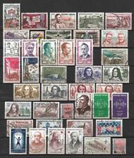 France année complète 1959 Yvert n° 1189 à 1229 oblitérés 1er choix