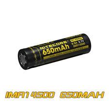 NITECORE Imr14500 650mah 3.7v High Drain Rechargeable Battery