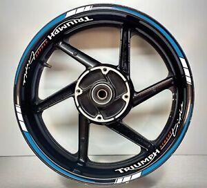 Triumph STREET Triple Reflective Blue & REFLECTIVE White, Wheel Rims 025/054