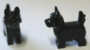 Lego® Tiere 2x schwarzer Hund Terrier
