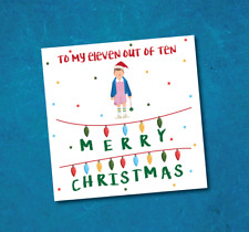 Christmas card - Stranger Things - eleven - eleven out of 10 - Christmas