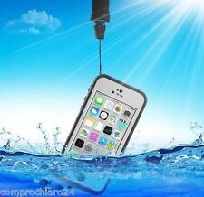 Custodia Impermeabile Bianca Antiurto Antishock per iPhone 5c - Waterproof Cover