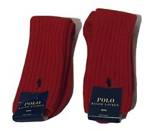 Brand New Men's Polo Ralph Lauren Wool Crew Socks One Size $28 Value 2 Pairs