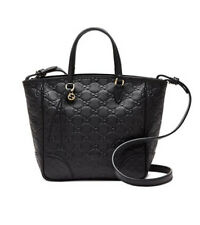NWT Gucci Bree Small Guccissima Black Tote Leather Bag, Made in Italy